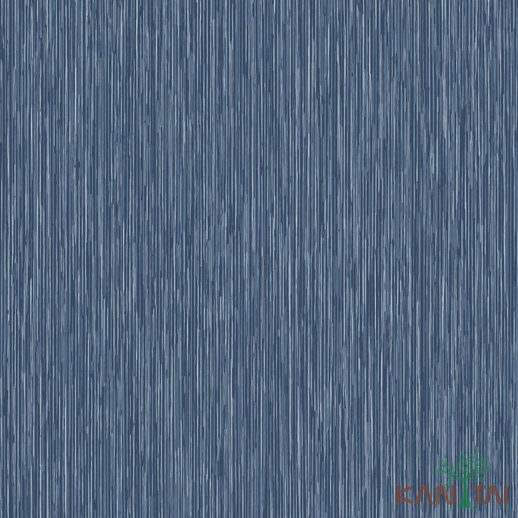 Papel de Parede Kan Tai TNT Coleção Vision Textura Azul Petróleo, Prata, Detalhes riscas verticais finas