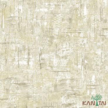 Papel de Parede Kan Tai TNT Coleção Vision Textura Cimento Bege, Dourado, Cinza claro, Estonado