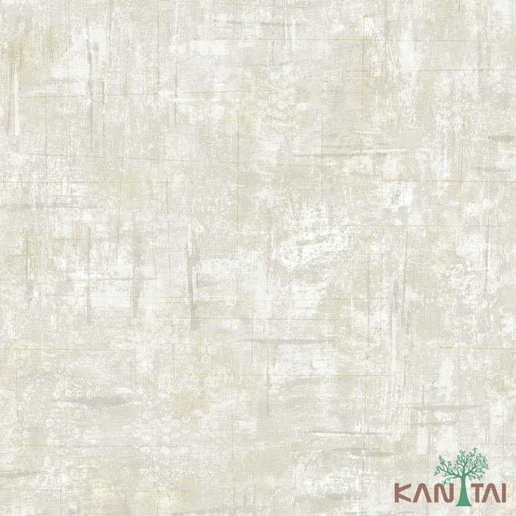 Papel de Parede Kan Tai TNT Coleção Vision Textura Cimento Tons cinza, Bege, Prata, Detalhes, Estonado