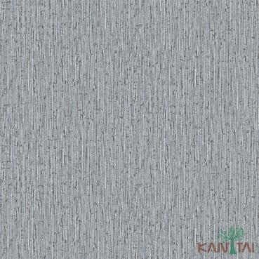 Papel de Parede Kan Tai TNT Coleção Vision Textura Cinza, Detalhes Azul, Marrom