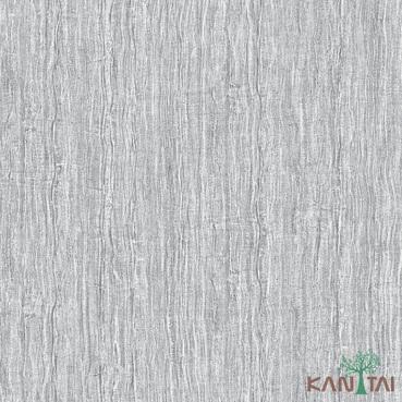 Papel de Parede Kan Tai TNT Coleção Vision Textura Cinza, Detalhes riscas verticais