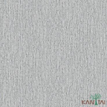 Papel de Parede Kan Tai TNT Coleção Vision Textura Cinza médio, Prata, Brilho