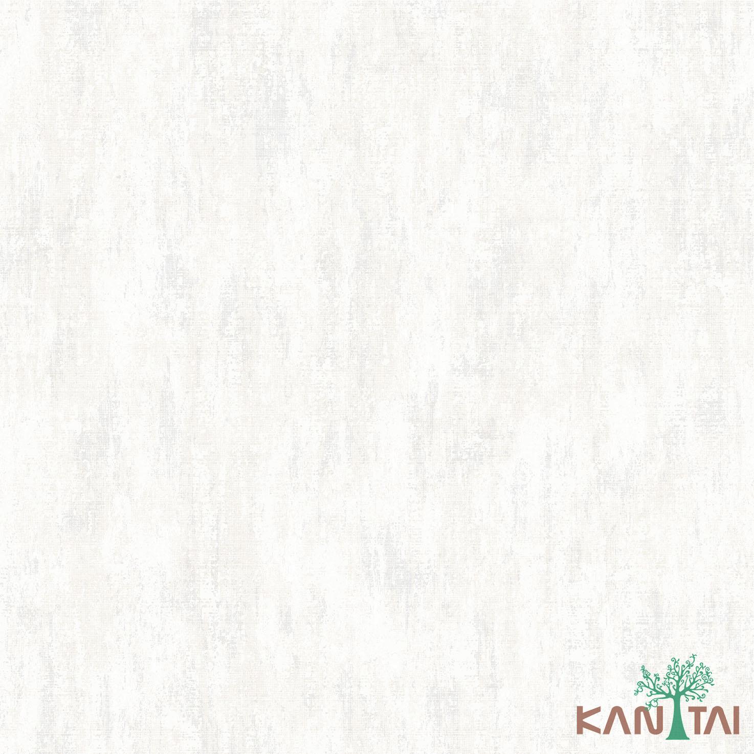 Papel de Parede Kan Tai TNT Coleção Vision Textura Off Whiten Bege, Prata, Detalhes