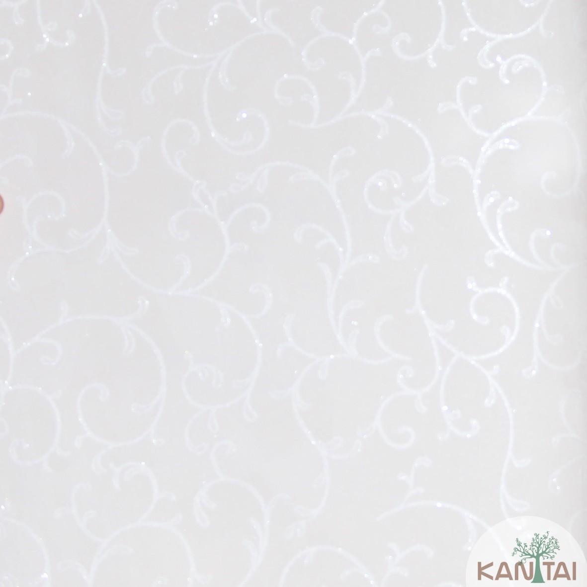 Papel de Parede Kan Tai Vinílico Coleção Grace 3 Arabesco  Champagne, Detalhes, Estonado, Brilho