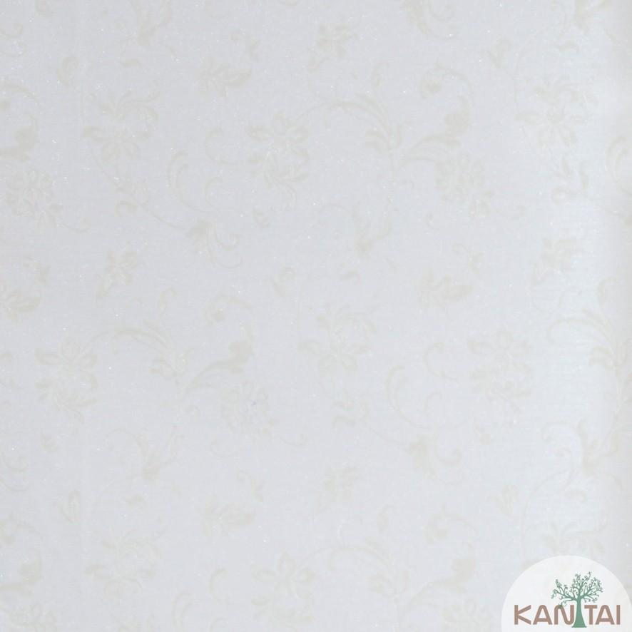 Papel de Parede Kan Tai Vinílico Coleção Grace 3 Arabesco Bege, Rosê