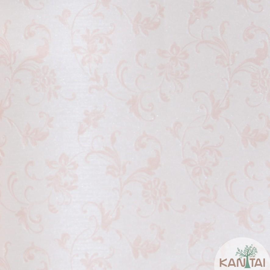Papel de Parede Kan Tai Vinílico Coleção Grace 3 Arabesco Floral Rosê
