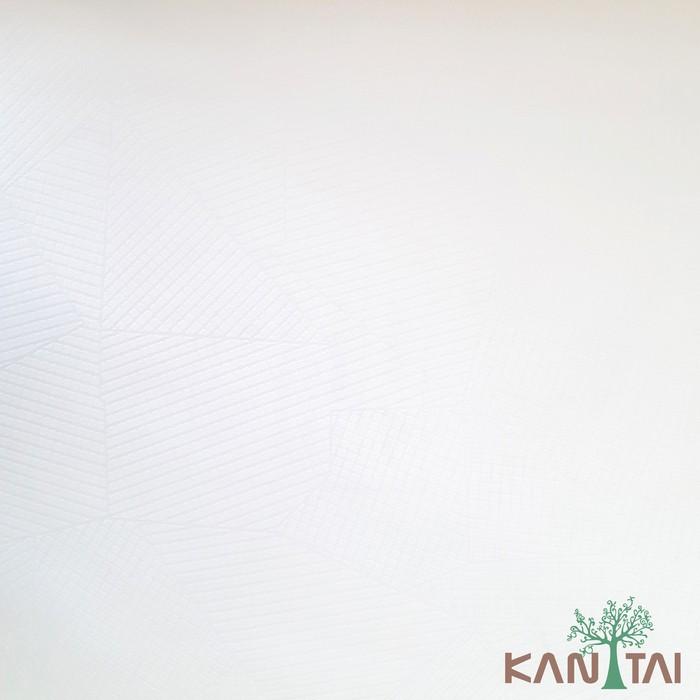 Papel de Parede Infantil Kan Tai Vinílico Coleção Grace 3 Geométrico Off white