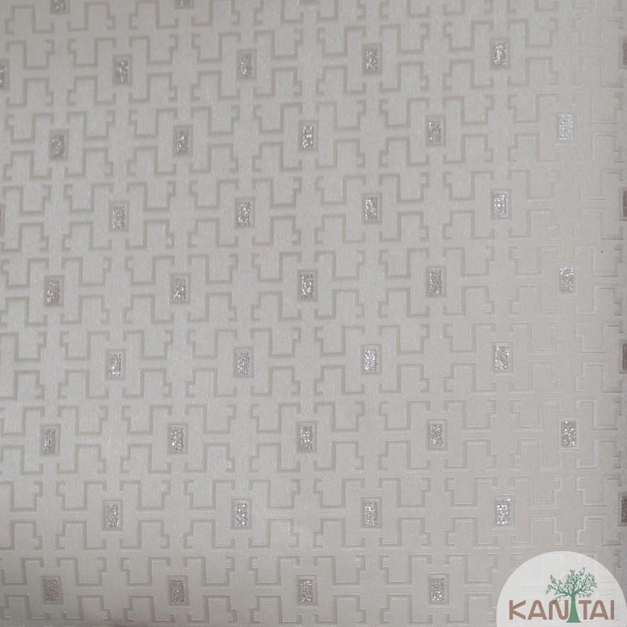 Papel de Parede Kan Tai Vinílico Coleção Grace 3 Geométrico Caramelo, Leve brilho