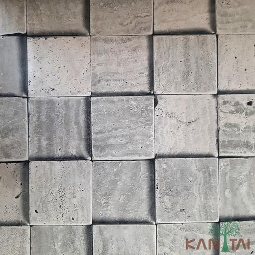 Papel de Parede Kan Tai Vinílico Coleção Grace 3 Pedras Cimento