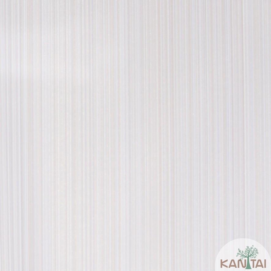 Papel de Parede Kan Tai Vinílico Coleção Grace 3 Textura Listrado Listras Finas Bege, Dourado, Detalhes
