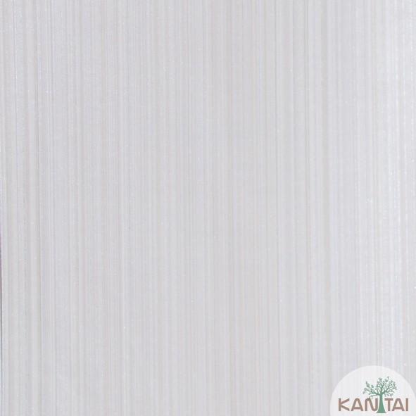 Papel de Parede Kan Tai Vinílico Coleção Grace 3 Textura Listrado Listras Finas Bege, Dourado, Prata, Detalhes, Brilho