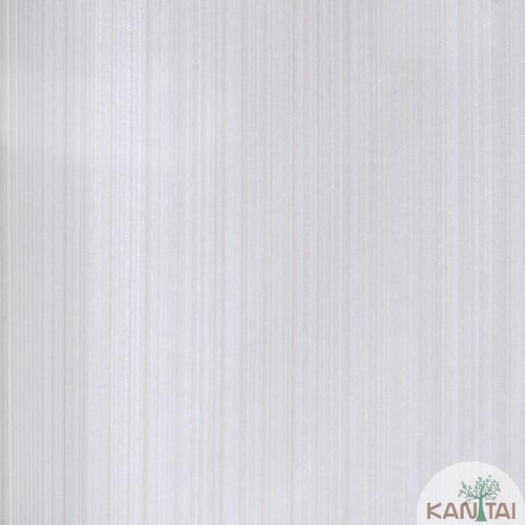 Papel de Parede Kan Tai Vinílico Coleção Grace 3 Textura Listrado Listras Finas Prata, Cinza, Detalhes, Brilho