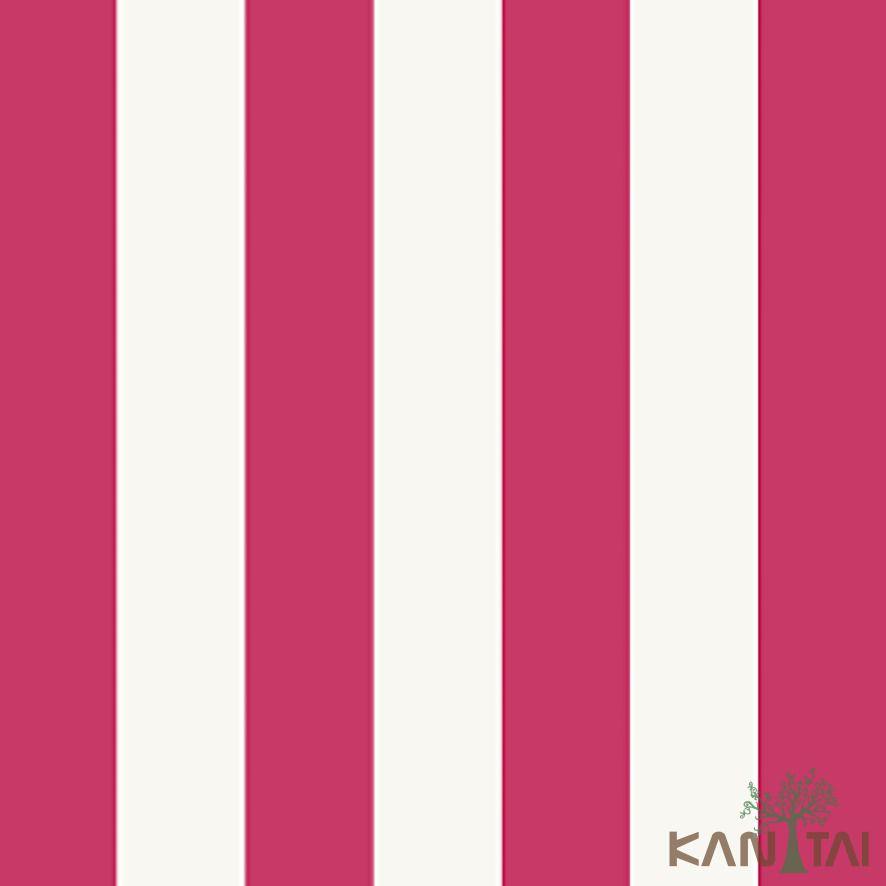 Papel de Parede Kan Tai Vinílico Coleção Stone Age 2 Listras Vermelho, Branco