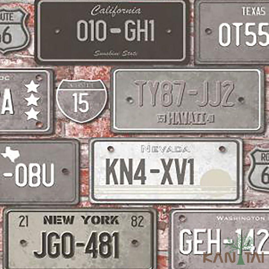 Papel de Parede Kan Tai Vinílico Coleção Stone Age 2 Placas Automóveis Cinza, Branco