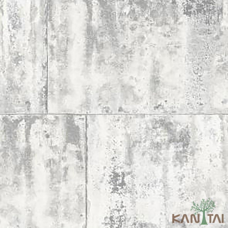 Papel de Parede Kan Tai Vinílico Coleção Stone Age 2 Geométrico Pedra Tons cinza