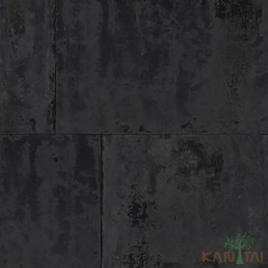 Papel de Parede Kan Tai Vinílico Coleção Stone Age 2 Geométrico Pedra Grafite