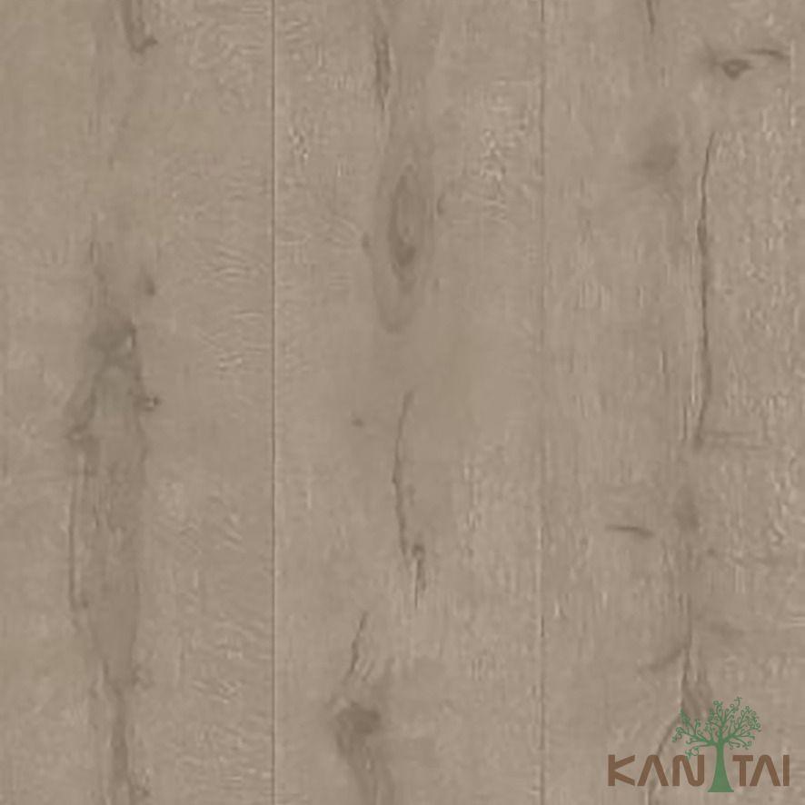 Papel de Parede Kan Tai Vinílico Coleção Stone Age 2 Madeira texturizado Marrom claro