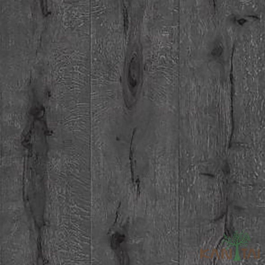 Papel de Parede Kan Tai Vinílico Coleção Stone Age 2 Madeira texturizado Grafite