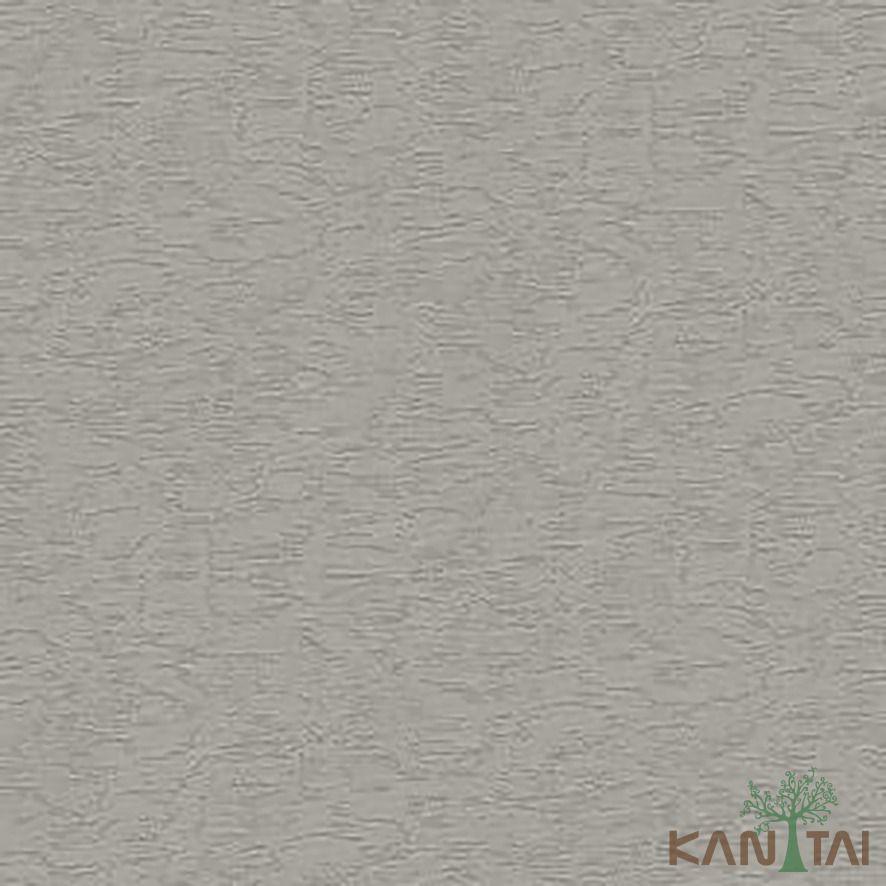 Papel de Parede Kan Tai Vinílico Coleção Stone Age 2 Textura Cinza, Detalhes, Brilho