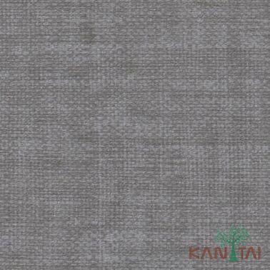 Papel de Parede Kantai Vinílico Coleção Classici 2 Textura linho Cinza escuro