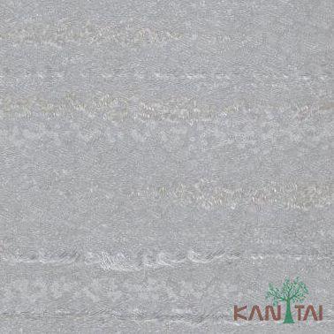 Papel de Parede Kantai Vinílico Coleção Classici 2 Textura Cinza, Prata, Detalhes Riscas
