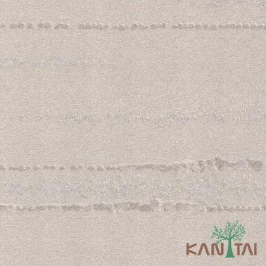 Papel de Parede Kantai Vinílico Coleção Classici 2 Textura riscas Bege, Prata, Detalhes