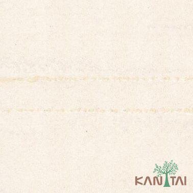 Papel de Parede Kantai Vinílico Coleção Classici 2 Textura Creme, Detalhes riscais verticais, leve brilho