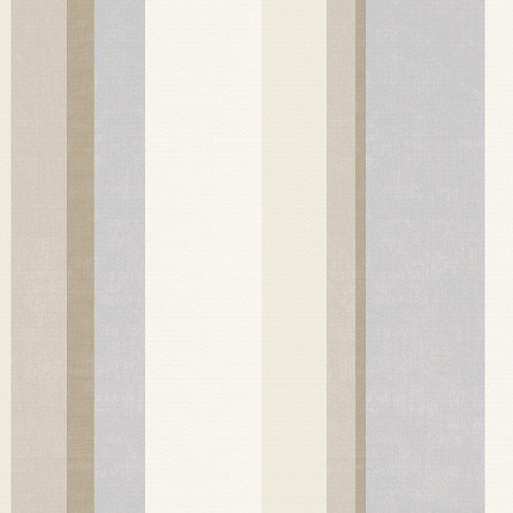 Papel de parede Coleção Diplomata listrado aquarela tons bege, cinza