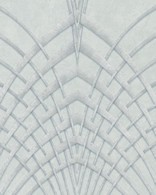 Papel de Parede Marburg Non Woven Coleção Modernista Geométrico gráfico Verde pérola, Prata, Brilho