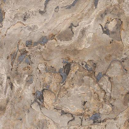 Papel de Parede Finottato Non Woven Coleção Mambo Textura Amarelado, Cinza, Preto
