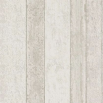 Papel de Parede Finottato Non Woven Coleção Mambo Textura Madeira Demolição Cinza, Creme