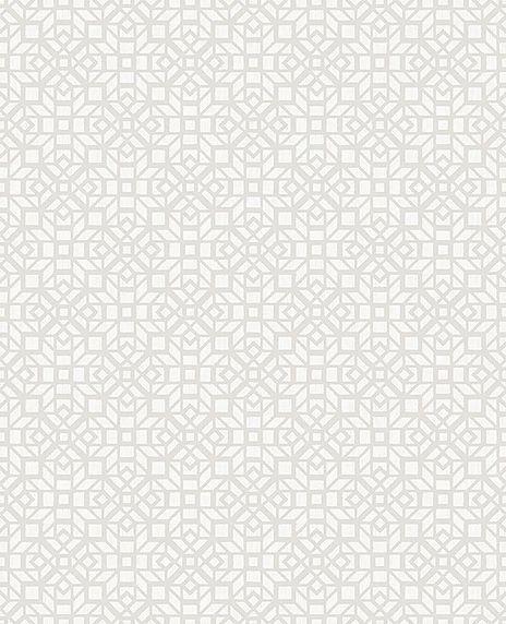 Papel de parede Finottato Non Woven Coleção Twist Geométrico Cinza, Marfim
