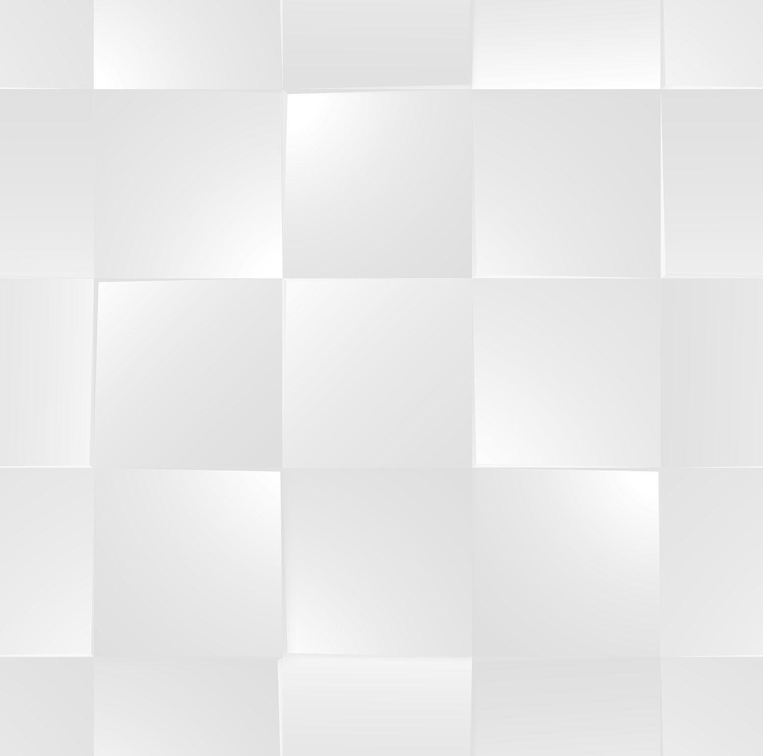 Papel de parede Bobinex Coleção Dimensões Geométrico 3D Quadrado Cinza, Marfim