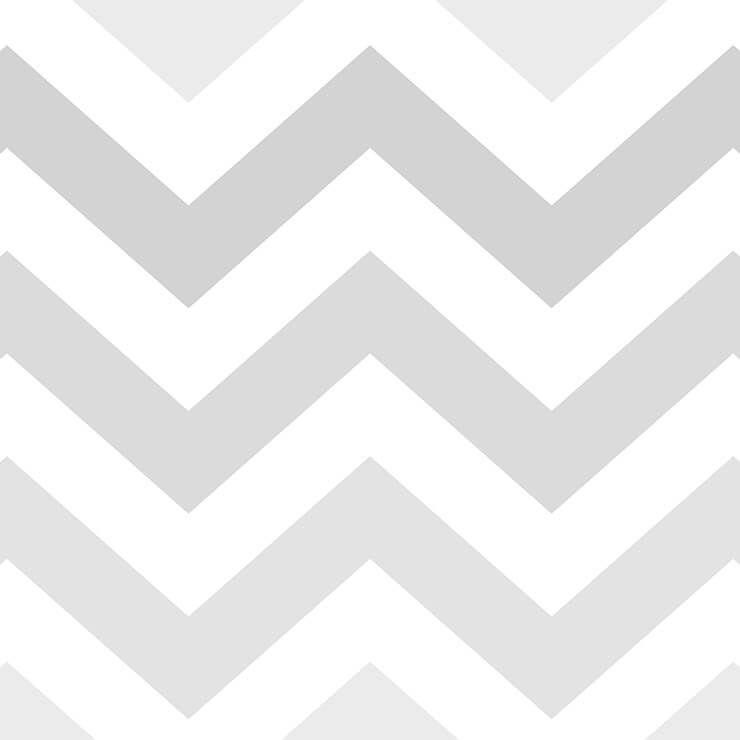 Papel de parede Infantil Bobinex Coleção Renascer Chevron Cinza, Branco