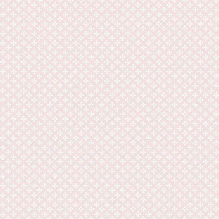 Papel de parede Infantil Bobinex Coleção Renascer Clover Rosa, Branco