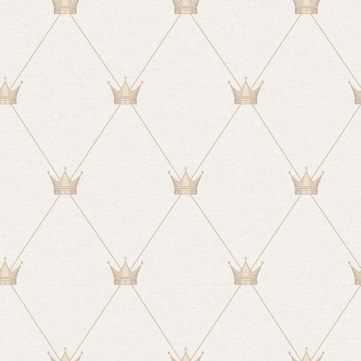 Papel de parede Infantil Bobinex Coleção Renascer Coroa Bege