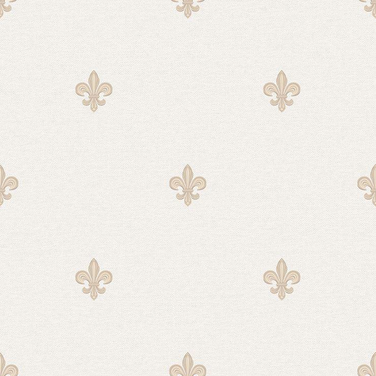 Papel de parede Infantil Bobinex Coleção Renascer Flor de Lis Bege