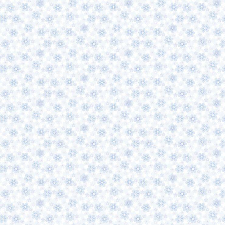 Papel de parede Infantil Bobinex Coleção Renascer Florzinha Azul