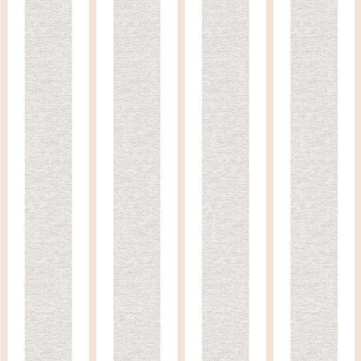Papel de parede Infantil Bobinex Coleção Renascer Listras Bege, Branco, Marrom