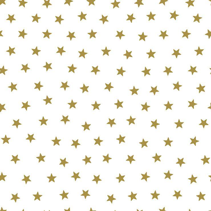 Papel de parede Infantil Bobinex Coleção Renascer Estrelas Branco, Dourado