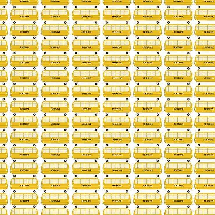 Papel de parede Infantil Bobinex Coleção Renascer Ônibus Creme, Amarelo