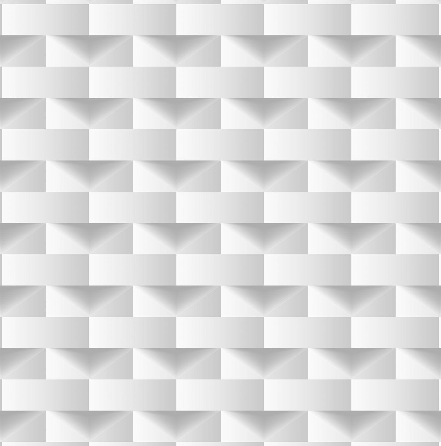Papel de parede Bobinex Vinílico Coleção Dimensões Geométrico 3D  Cinza, Marfim