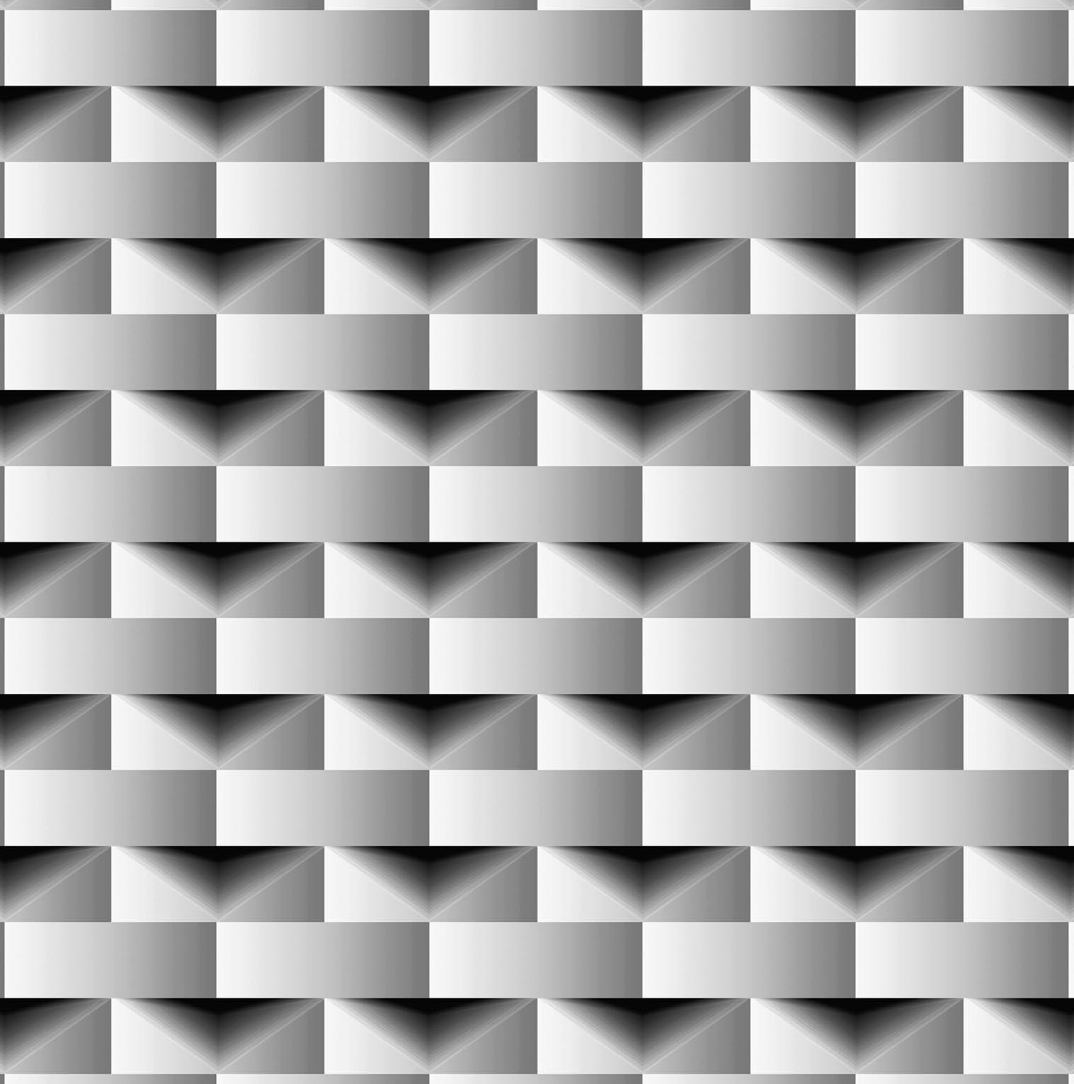 Papel de parede Bobinex Vinílico Colecao  Dimensões Geométrico 3D  Preto, Tons cinza