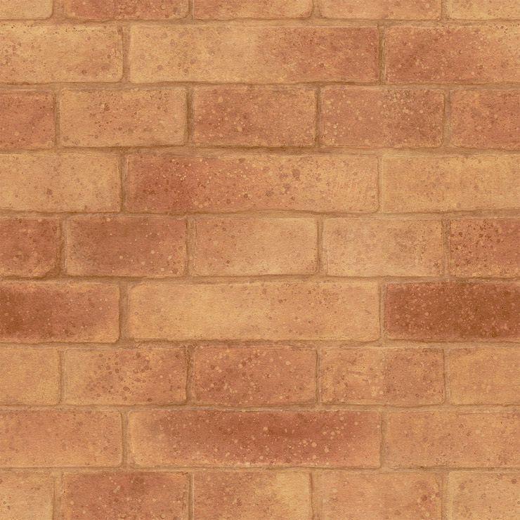 Papel de parede Bobinex Coleção Natural Tijolo Terracota