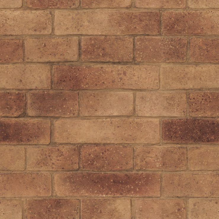 Papel de parede Coleção Natural Tijolo Marrom Escuro