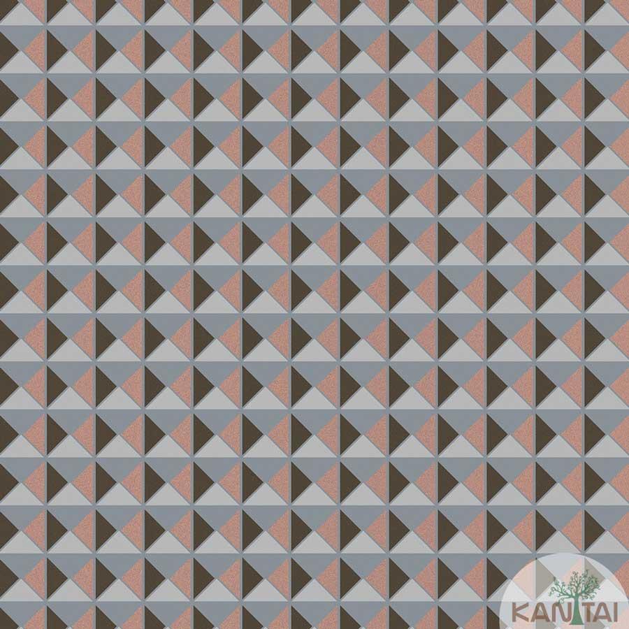 Papel de Parede Kan Tai TNT Coleção New City V Geométrico Tons cinza, Marrom, Brilho