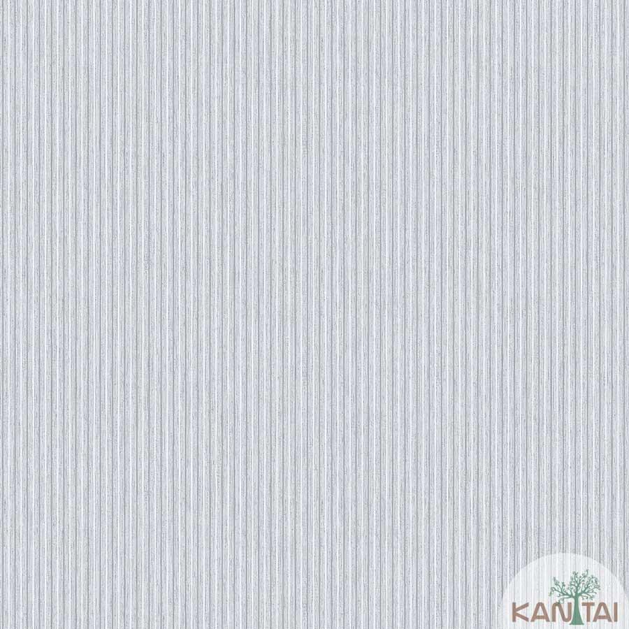 Papel de Parede Kan Tai TNT Coleção New City V Listras Tons Verde claro, Branco, Prata