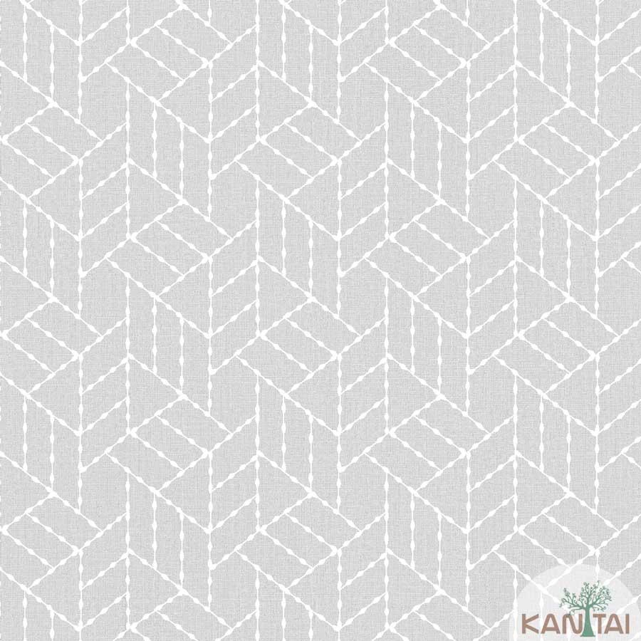 Papel de Parede Kan Tai TNT Coleção New City V Geométrico Cinza, Branco