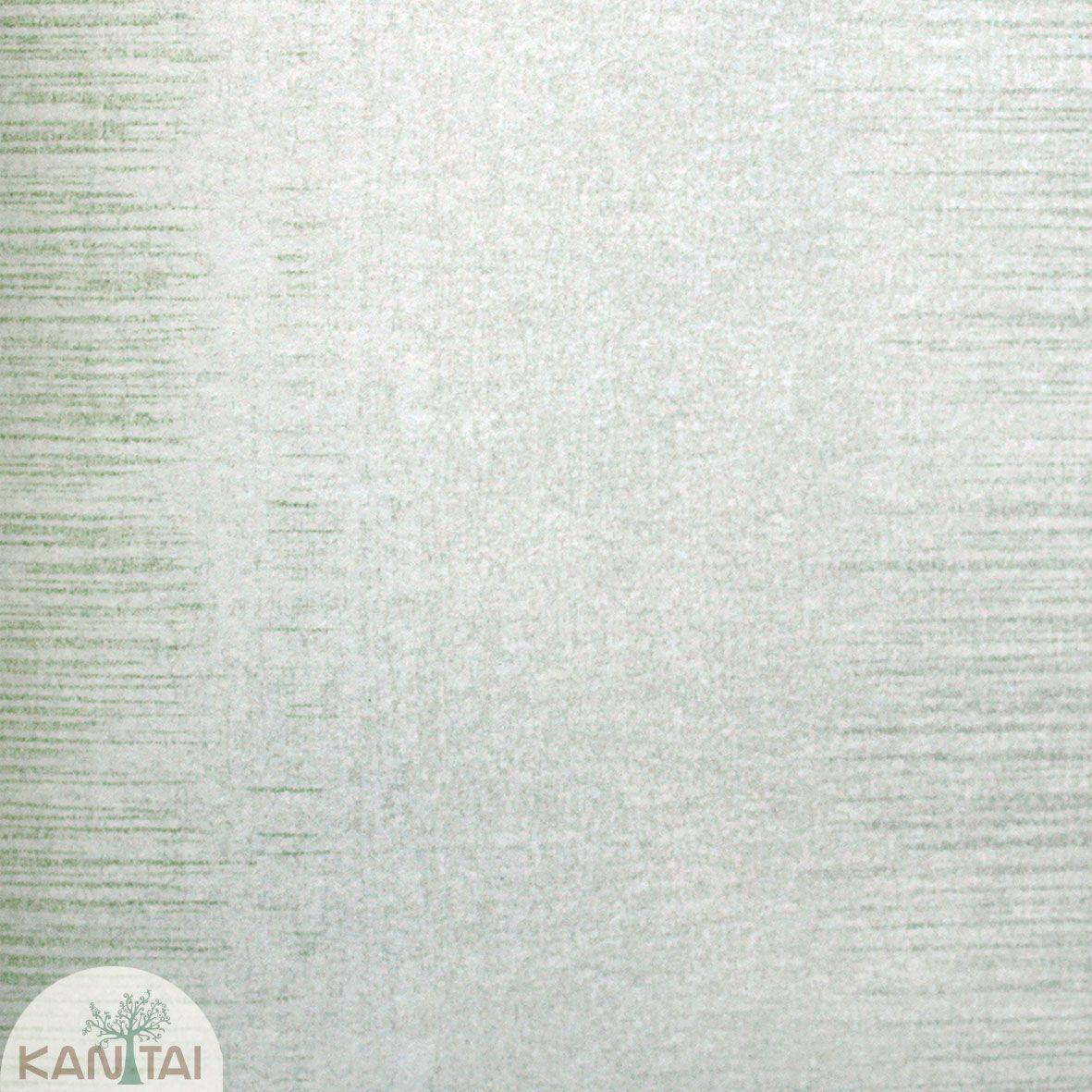 Parede de parede Kan Tai TNT Coleção Space 4 Textura Creme, Detalhes Riscais Verticais Verde