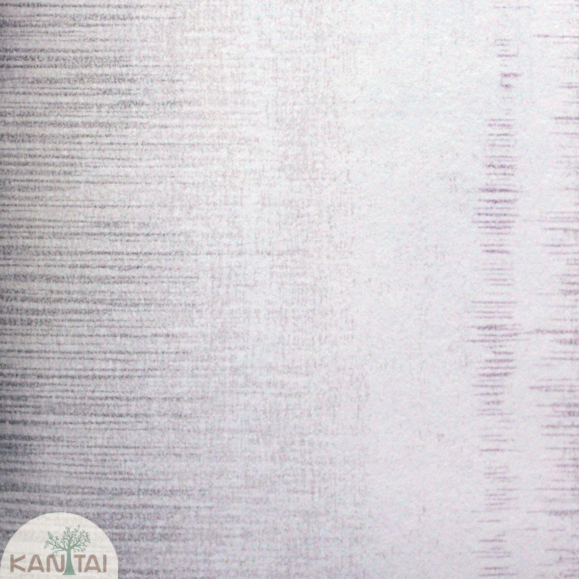 Parede de parede Kan Tai TNT Coleção Space 4 Textura Creme, Detalhes Riscas Verticais Lilás